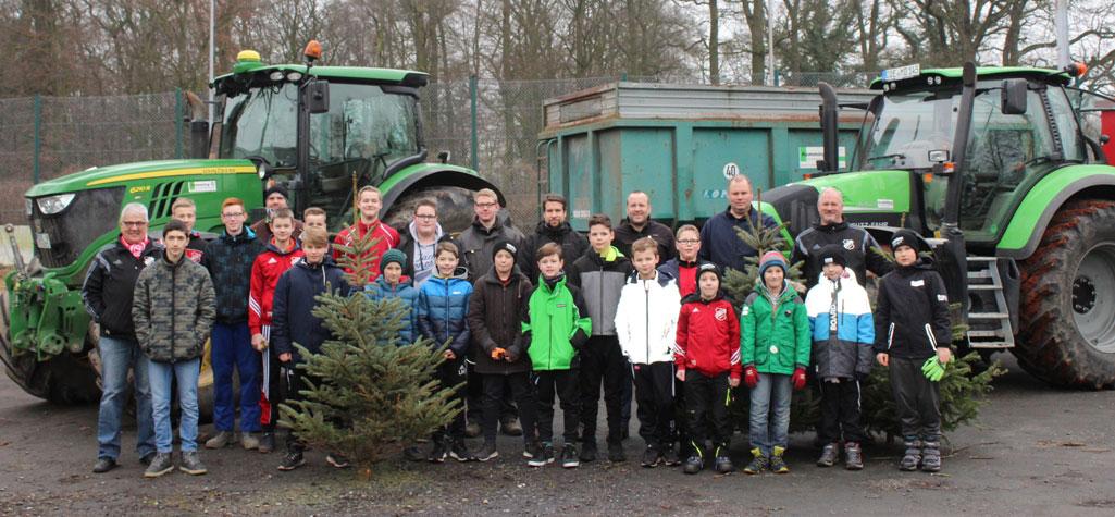 Weihnachtsbaumaktion der Jugendabteilung des SV Vorwärts Hiddingsel