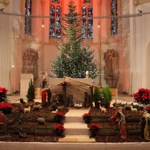 Krippe St. Georg Kirche Hiddingsel Weihnachten 2016