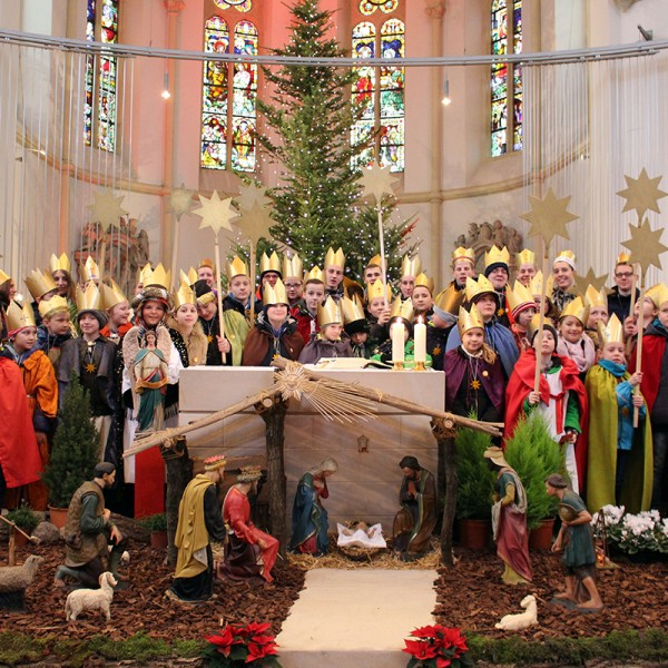Sternsinger. Traditionell startet das Jahr in Hiddingsel – wie vielerorts auch – mit der Sternsingeraktion.