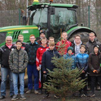 Tannenbaumaktion der Jugendabteilung des SV Vorwärts Hiddingsel