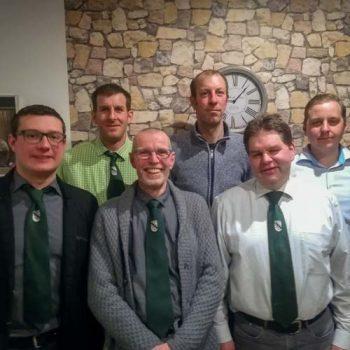 von links nach rechts unten: Patrick Sonnabend, König 2017 Michael Beckmann, Gregor Walterbusch von links nach rechts oben: Stefan Uckelmann, Johannes Finkenbrink, Ralf Brockmann