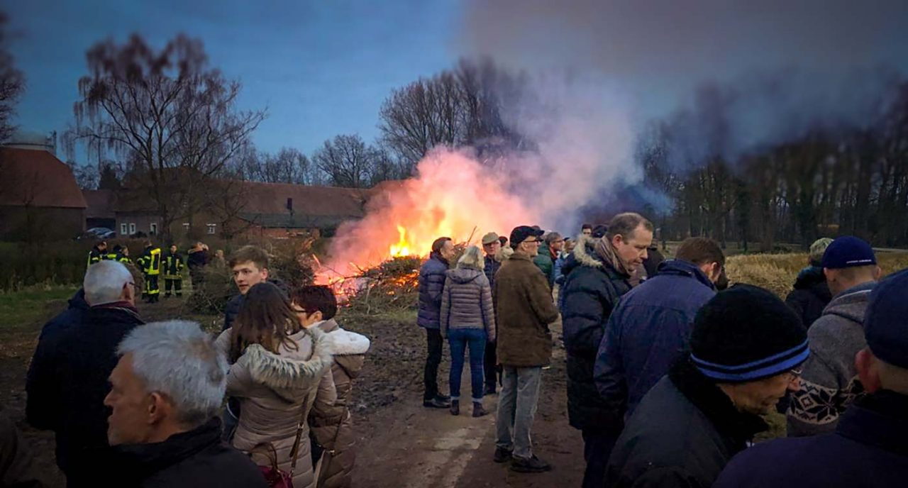 Osterfeuer in Hiddingsel