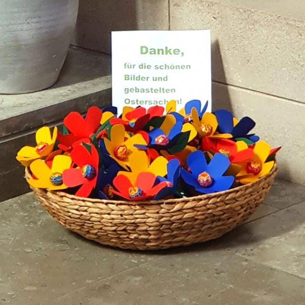 """Unsere """"älteren"""" Dorfbewohner aus dem Seniorenpark in Hiddingsel bedanken sich mit einer kleinen Überraschung."""