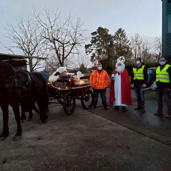 Helfer und Kutscher vom Nikolaustag in Hiddingsel